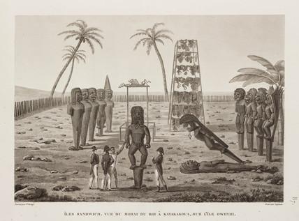 The king's Morai at Kayakakoua, Sandwich Islands, 1817-1820.