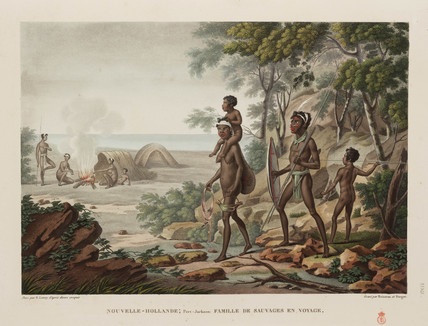 'Family of savages travelling', New Holland, 1817-1820.