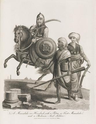 Mamluks and Bedouin soldier, 1804.