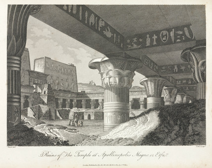 'Ruins of the Temple at Apollinopolis Magna, or Etfu', Egypt, 1804.