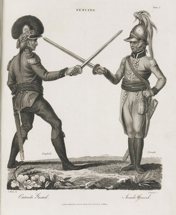 'Fencing: Inside Guard - Outside Guard', 1805.