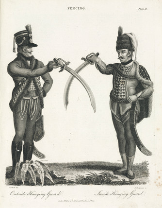 'Fencing: Outside Hanging Guard - Inside Hanging Guard', 1806.