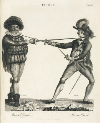 'Fencing: Spanish Guard - Italian Guard', 1806.