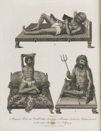 Indian holy men, 1809.
