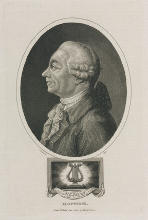 Friedrich Gottlieb Klopstock, German poet, 18th century.