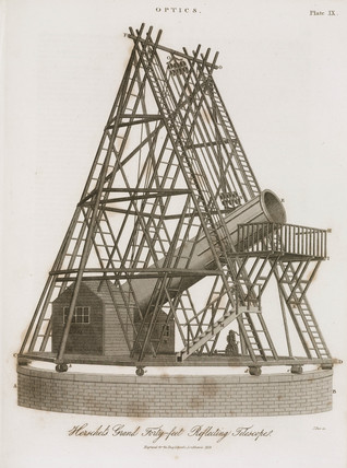 'Herschel's Grand Forty-feet Reflecting Telescope', 1819.