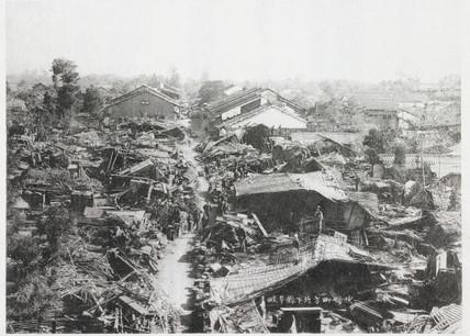 Gifu after the earthquake, Japan, 1891.