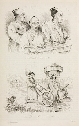Japanese people and transport, 1826-1829.