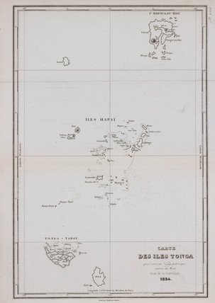 Map of the islands of Tonga, 1834.