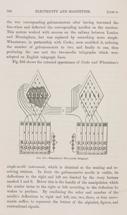 Cooke and Wheatstone's five-needle telegraph, 1837.