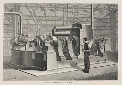 Edison's steam dynamo, 1891.