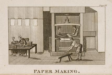 Paper-making, 1809.