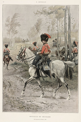Officer of the Hussars, 5th regiment of France, 1806.
