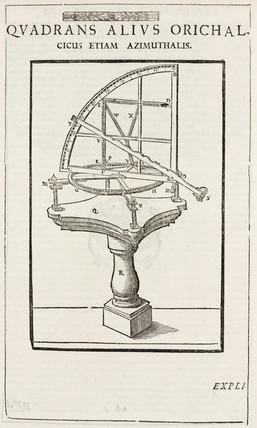 Tycho Brahe's portable brass azimuth quadrant, c 1577.