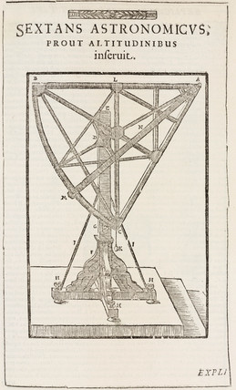 Tycho Brahe's sextant for measuring altitude, c 1577.