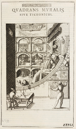 Tycho brahe and his mural quadrant 1587 at science and for Mural quadrant