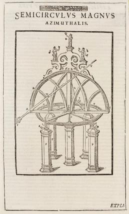 Tycho Brahe's azimuth semicircle, c 1587.