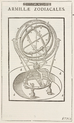 Tycho Brahe's zodiacal armillary sphere, before 1570.
