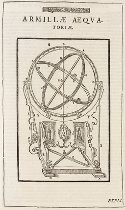 Tycho Brahe's equatorial armillary sphere, c 1580.