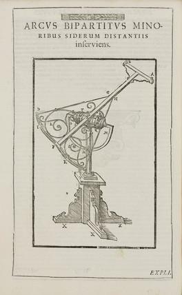 Tycho Brahe's double arc instrument, c 1590.