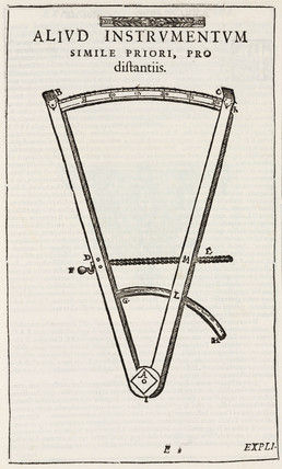 Tycho Brahe's instrument for measuring angular distances, 1569.