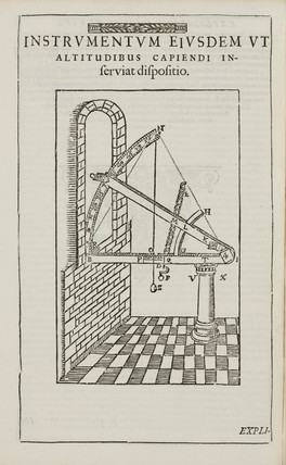 Tycho Brahe's sextant for measuring meridian altitudes, late 16th century.