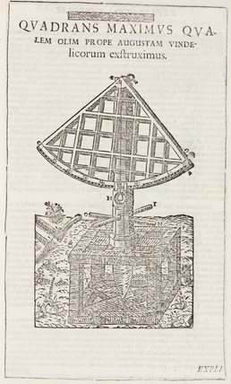 Tycho Brahe's 19 foot quadrant, c 1569.