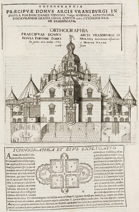 Tycho Brahe's observatory, Uraniborg, Denmark, c 1580.