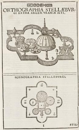 Tycho Brahe's observatory, Stjerneborg, Denmark, c 1580-1602.