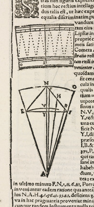 Portion of diagonally divided scale, late 16th century.