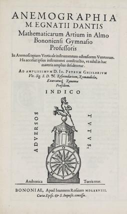 Anemometer, 1578.