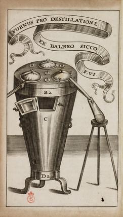 Alchemical distillation furnace, 1689.