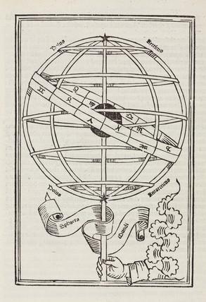 Armillary sphere, 1489.