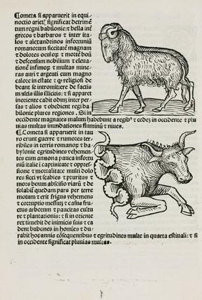 Aries the ram and Taurus the bull, 1489.