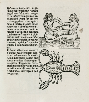Gemini, the twins and Cancer the crab, 1489.