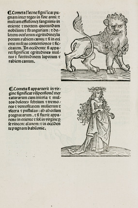 Leo the lion and Virgo the maiden, 1489.