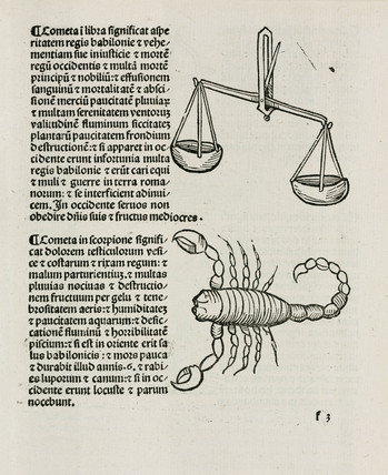Libra, the scales and Scorpio the scorpion, 1489.