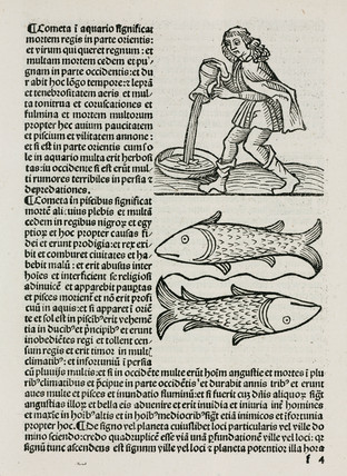 Aquarius and the water carrier and Pisces the fish, 1489.