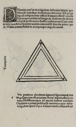 The constellation of  Triangulus, 1488.