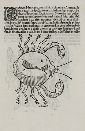 The constellation of Cancer, 1488.