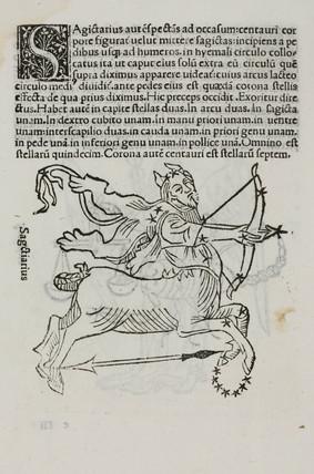 The constellation of Sagittarius, 1488.