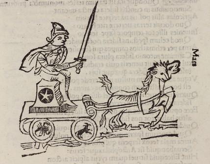 Mars, symbolised, 1488.