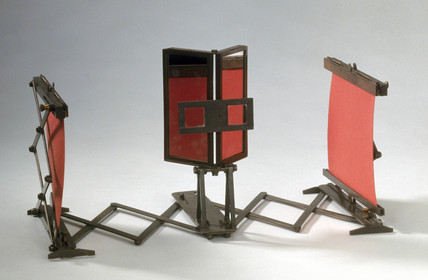 Wheatstone's lazy tong stereoscope, 19th century.