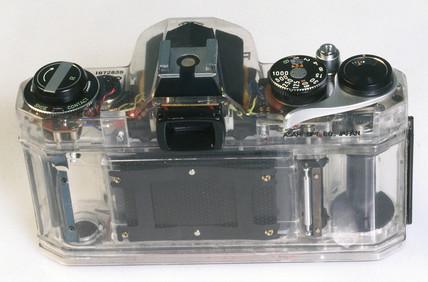 Perspex encased camera, c 1970.