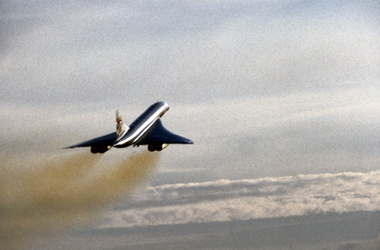 Concorde taking off.