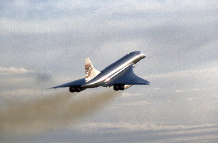 Concorde in flight.