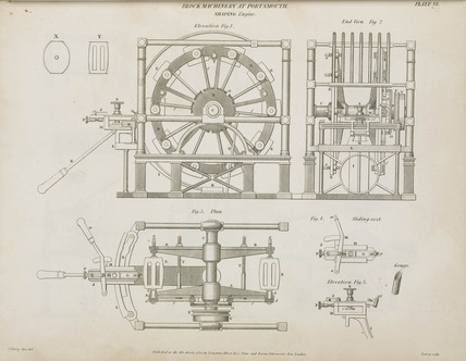 Brunel's shaping engine, 1820.