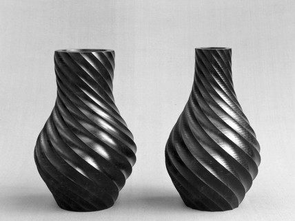 Two hardwood vases, mid 19th century.