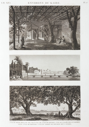 Views around Cairo, Egypt, c 1798.