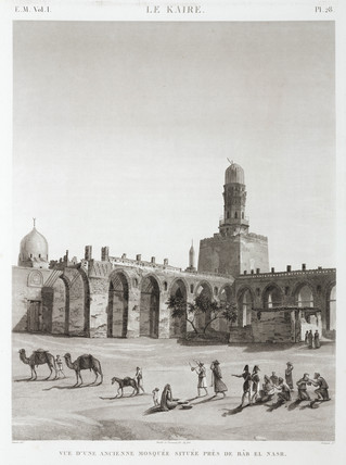 An ancient mosque near Bab el-Nasr, Cairo, Egypt, c 1798.
